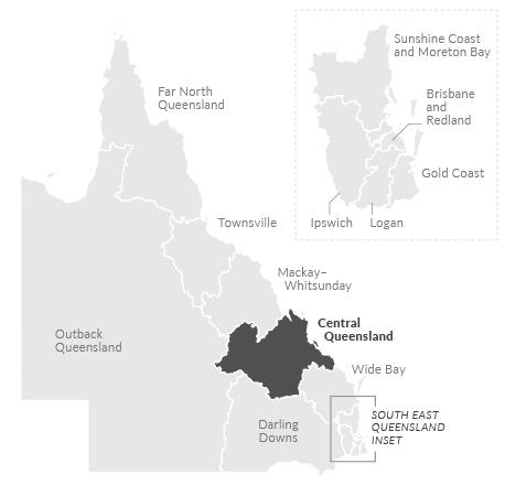 Map of Central Queensland region