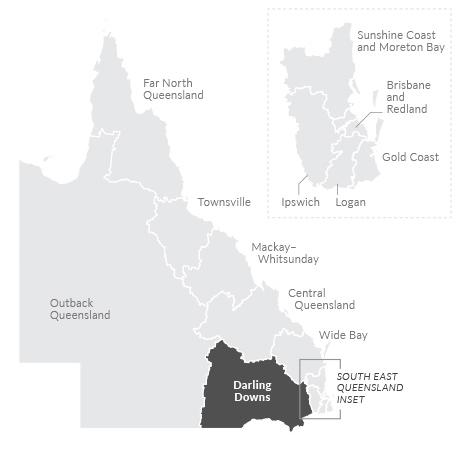 Map of Darling Downs region